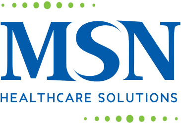 MSN Healthcare Solutions blue and green company logo