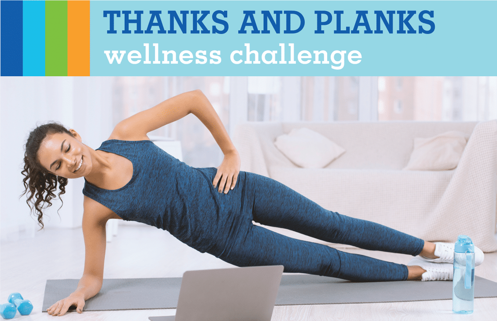 thanks and planks wellness challenge