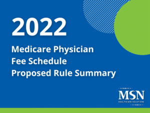2022 MPFS proposed rule summary